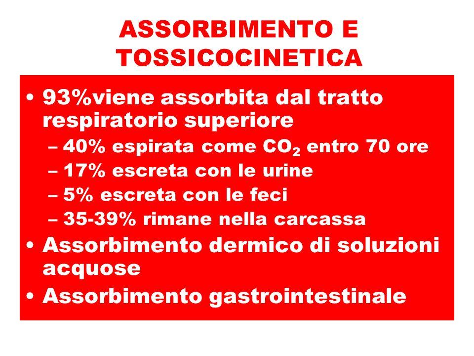 ASSORBIMENTO E TOSSICOCINETICA