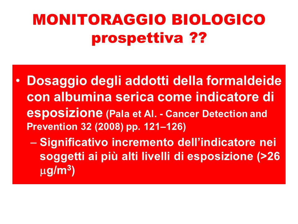 MONITORAGGIO BIOLOGICO prospettiva