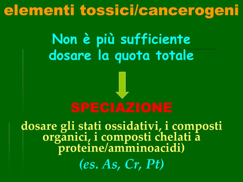 elementi tossici/cancerogeni