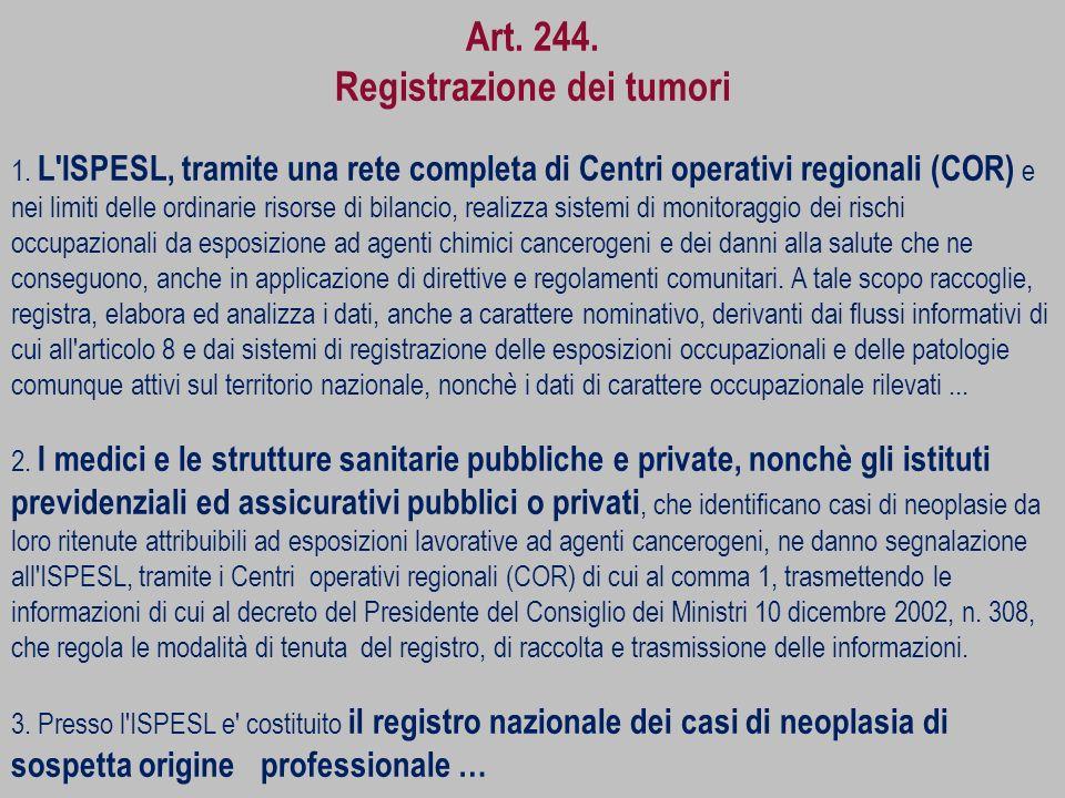 Registrazione dei tumori