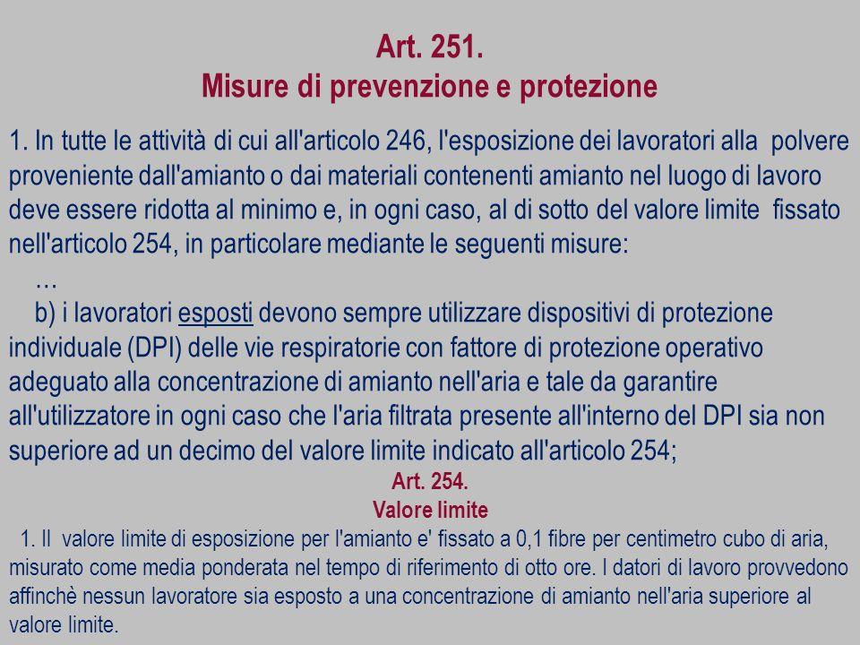 Misure di prevenzione e protezione