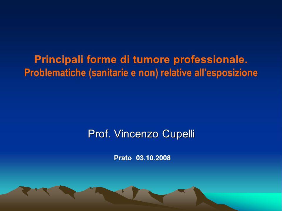 Principali forme di tumore professionale