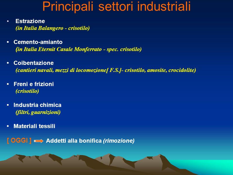 Principali settori industriali