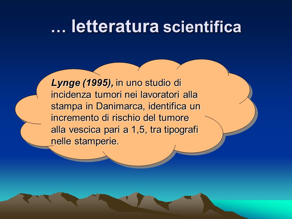 … letteratura scientifica