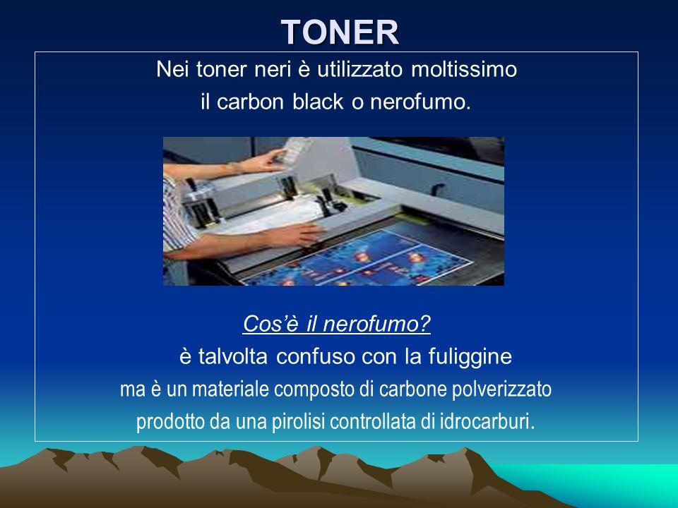 TONER Nei toner neri è utilizzato moltissimo