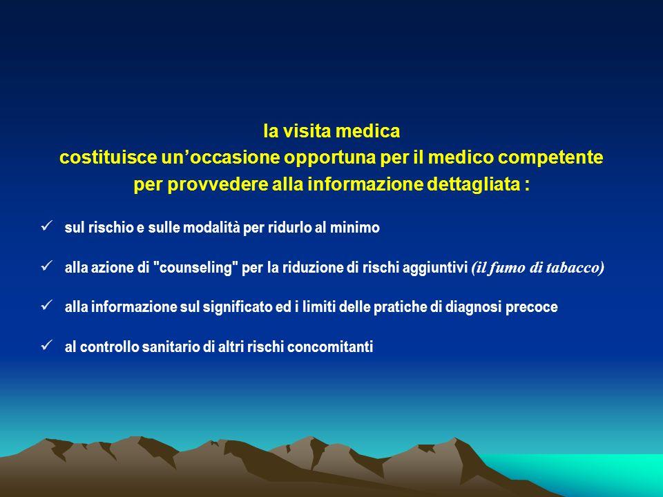 costituisce un'occasione opportuna per il medico competente