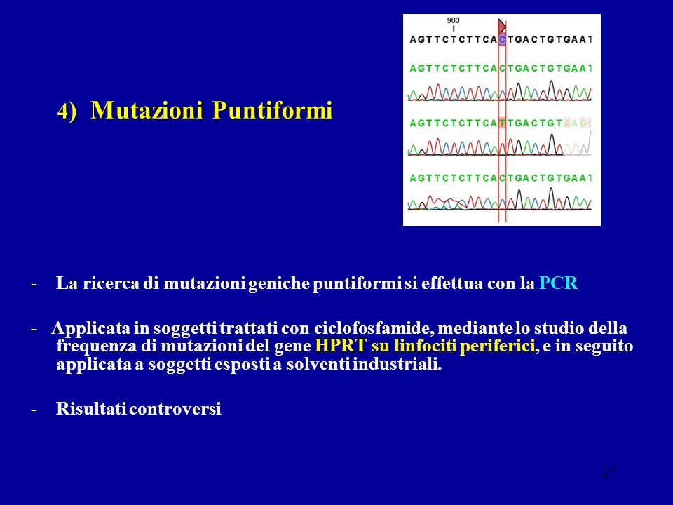 4) Mutazioni Puntiformi