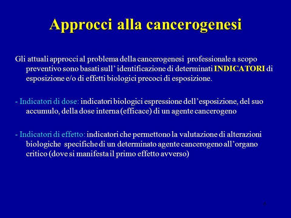 Approcci alla cancerogenesi