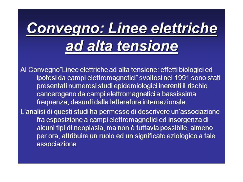 Convegno: Linee elettriche ad alta tensione