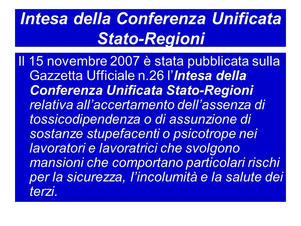 Intesa della Conferenza Unificata Stato-Regioni