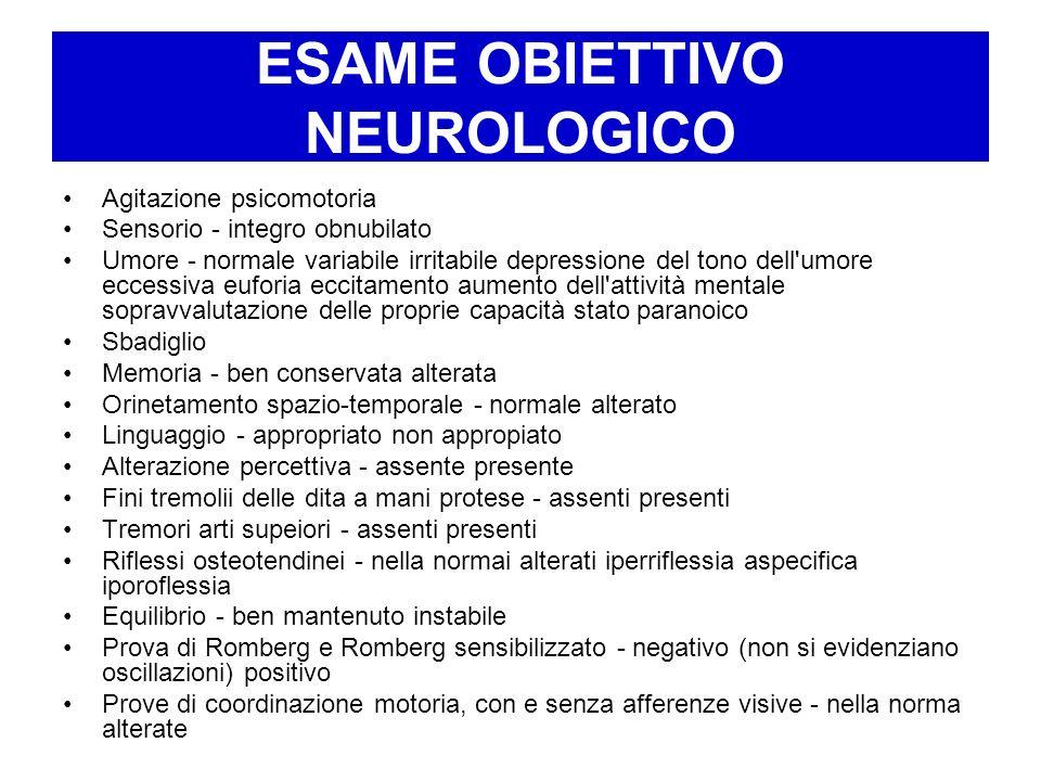 ESAME OBIETTIVO NEUROLOGICO