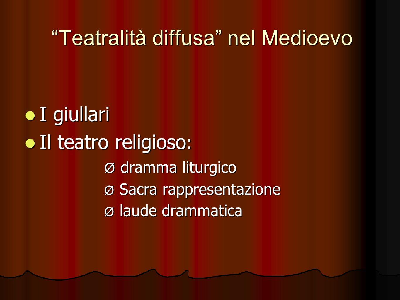 Teatralità diffusa nel Medioevo