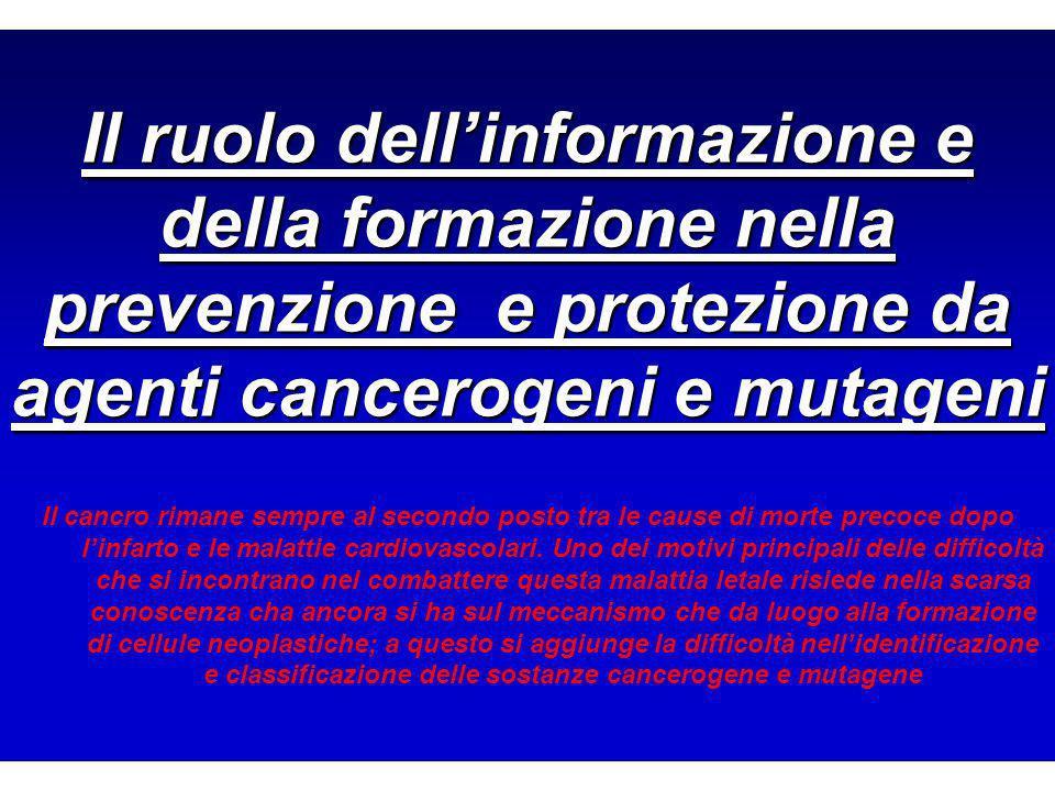 Il ruolo dell'informazione e della formazione nella prevenzione e protezione da agenti cancerogeni e mutageni