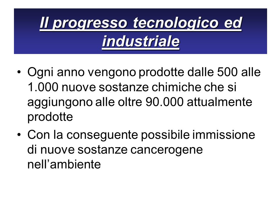 Il progresso tecnologico ed industriale