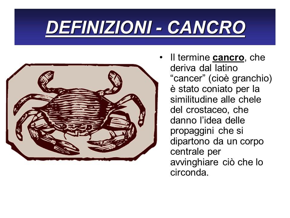 DEFINIZIONI - CANCRO