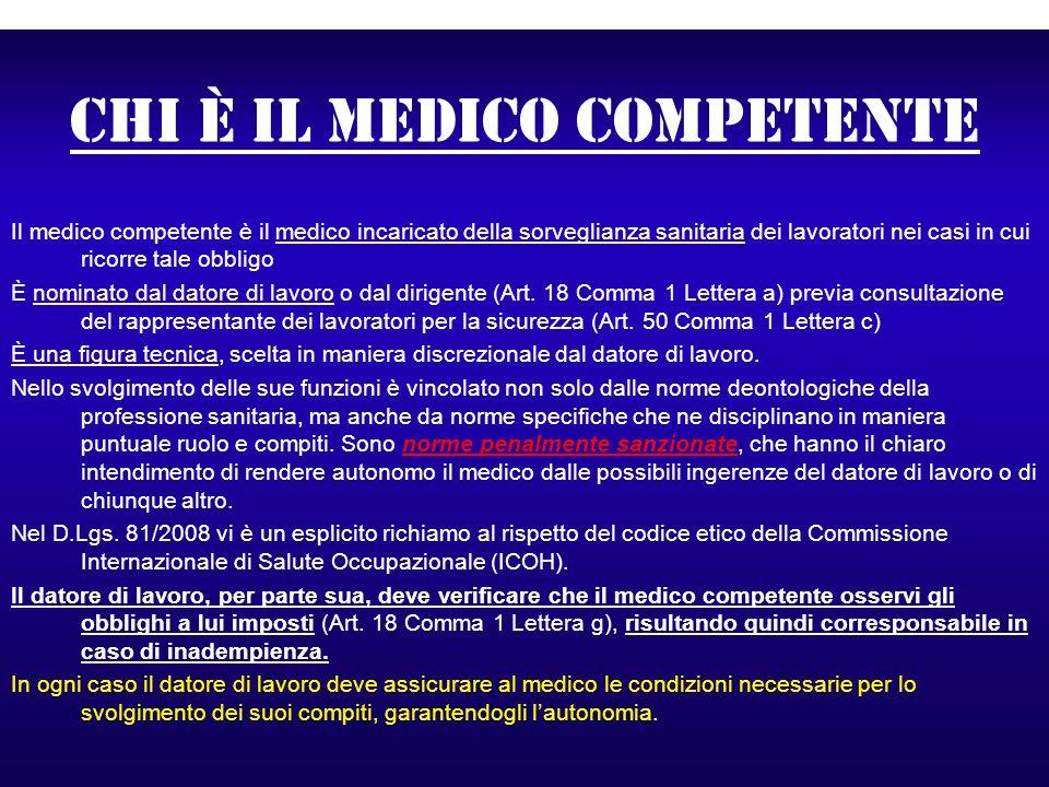 Chi è il medico competente
