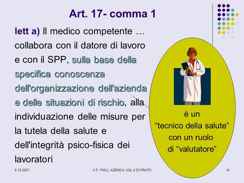 Art. 17- comma 1
