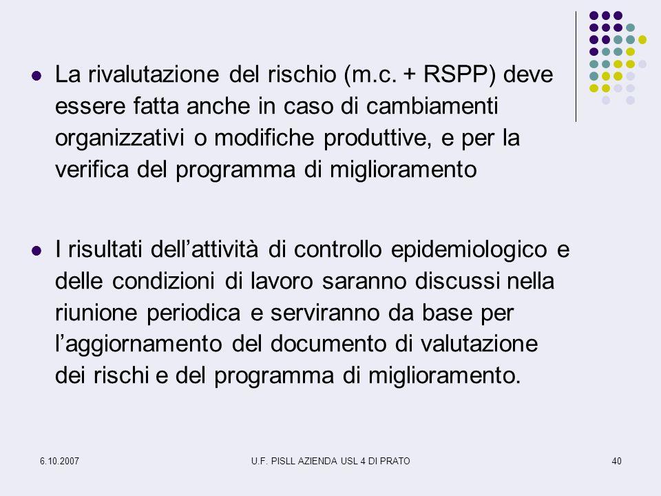 U.F. PISLL AZIENDA USL 4 DI PRATO