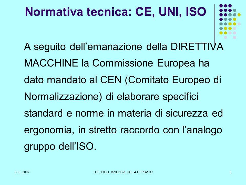 Normativa tecnica: CE, UNI, ISO