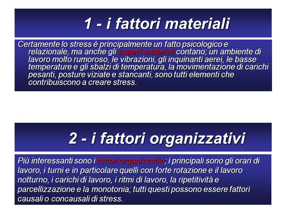 2 - i fattori organizzativi