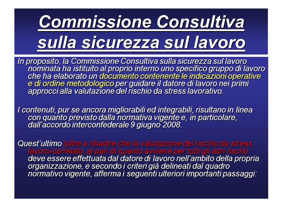 Commissione Consultiva sulla sicurezza sul lavoro