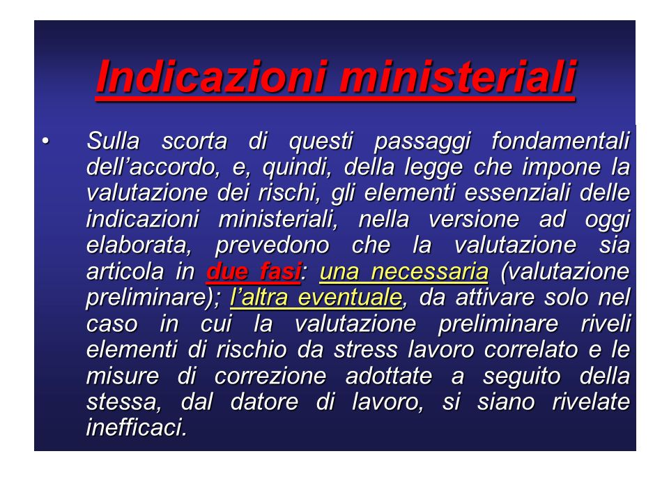 Indicazioni ministeriali