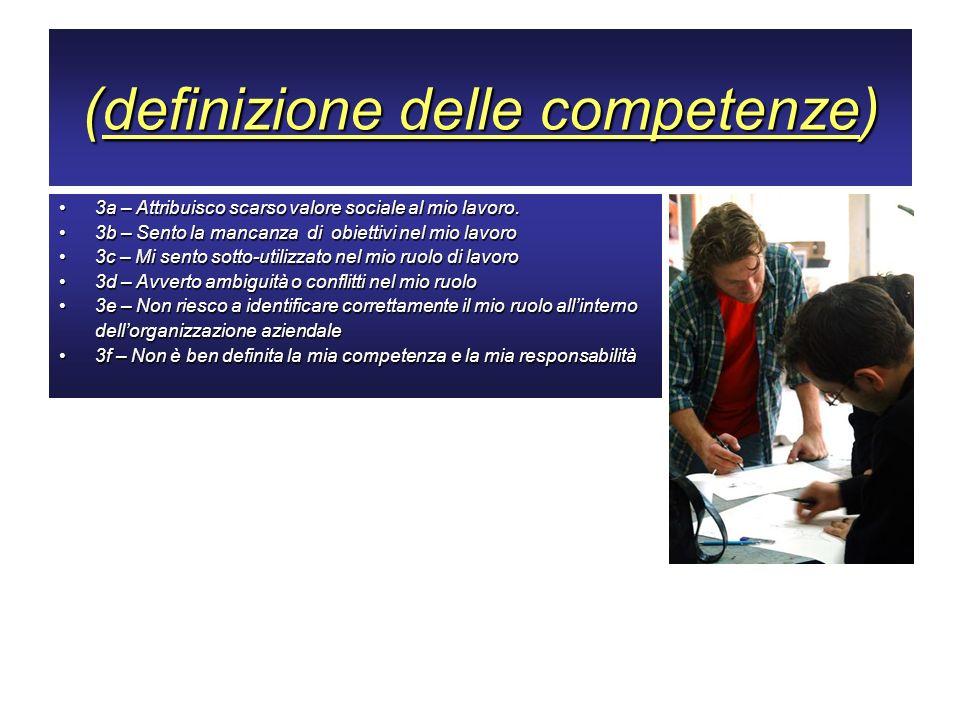 (definizione delle competenze)
