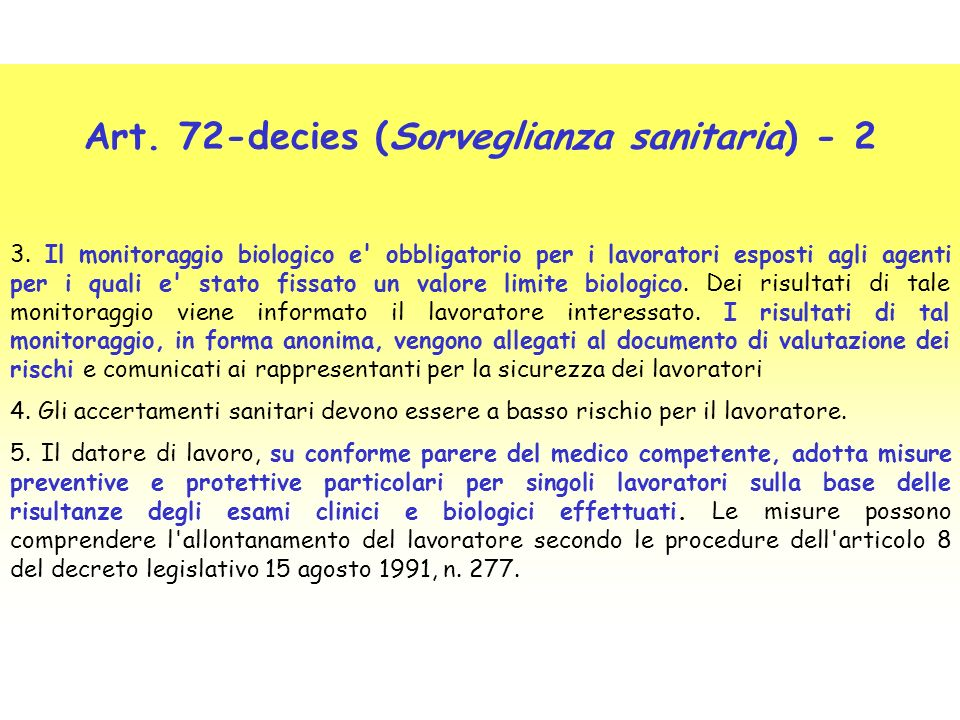 Art. 72-decies (Sorveglianza sanitaria) - 2