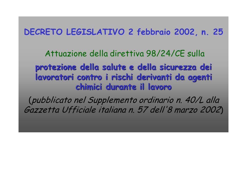 DECRETO LEGISLATIVO 2 febbraio 2002, n. 25