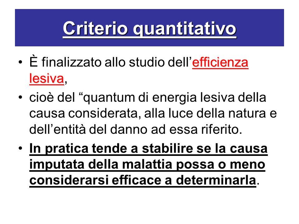 Criterio quantitativo