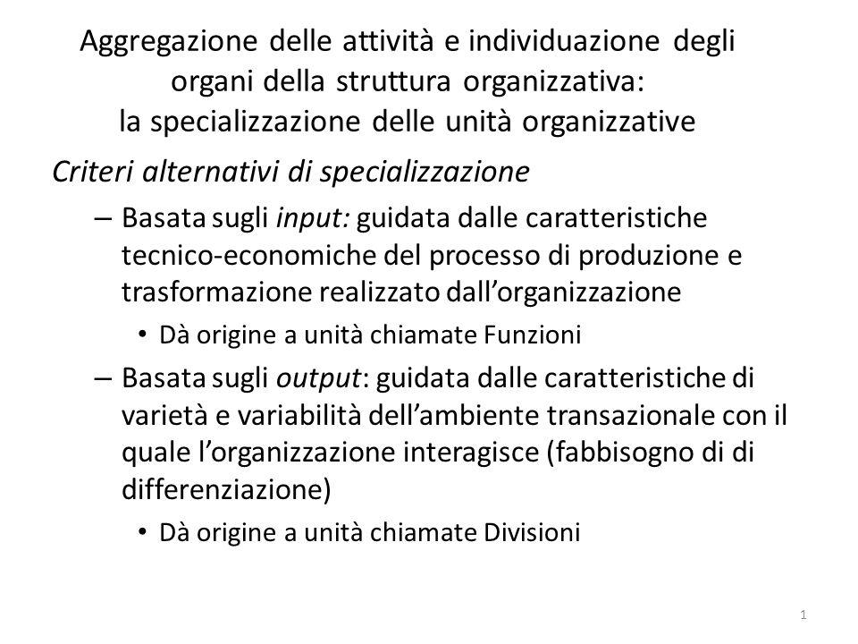 Criteri alternativi di specializzazione