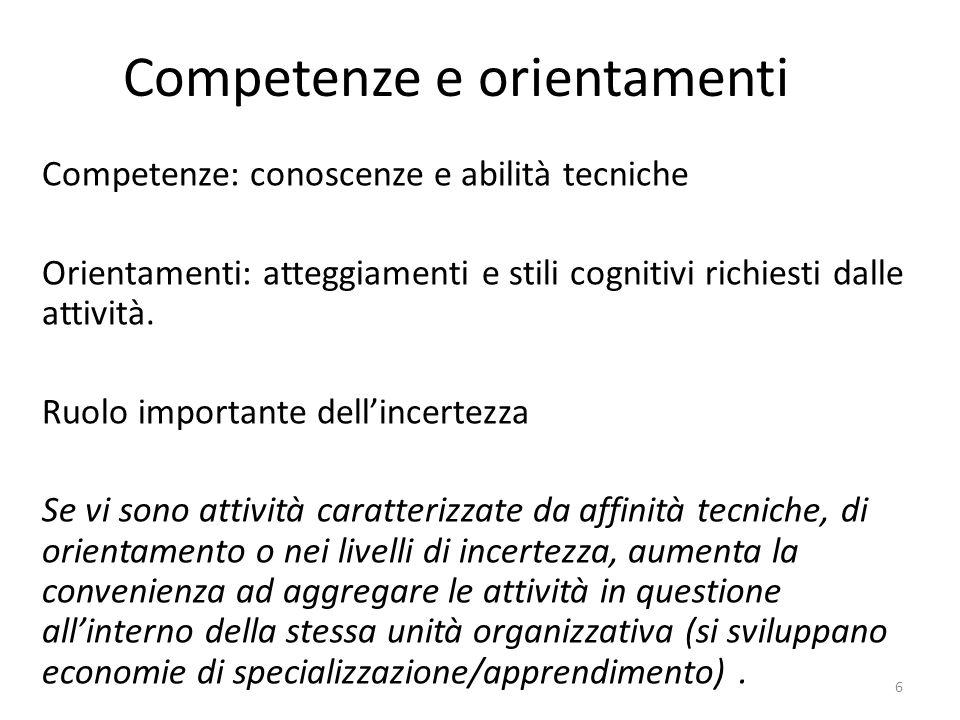 Competenze e orientamenti