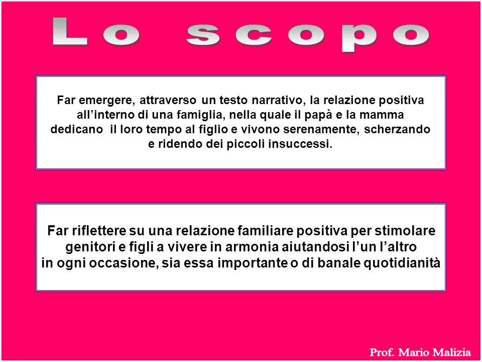 Lo scopo Prof. Mario Malizia