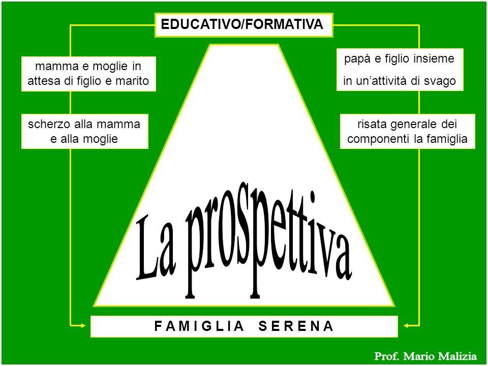 La prospettiva Prof. Mario Malizia EDUCATIVO/FORMATIVA