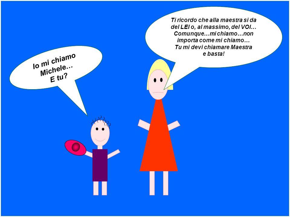 Io mi chiamo Michele… E tu