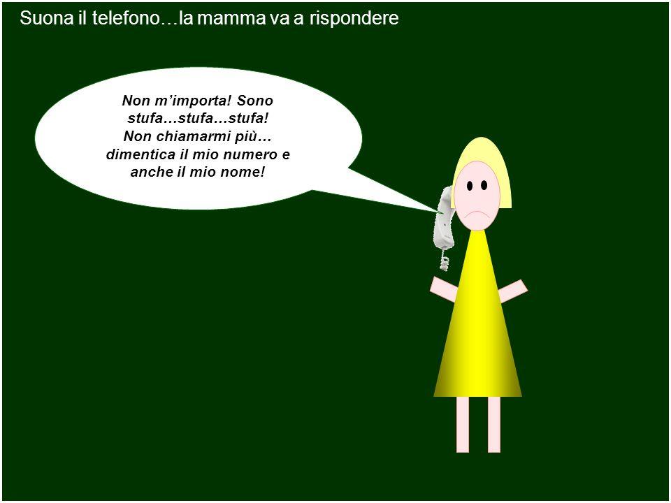 Suona il telefono…la mamma va a rispondere