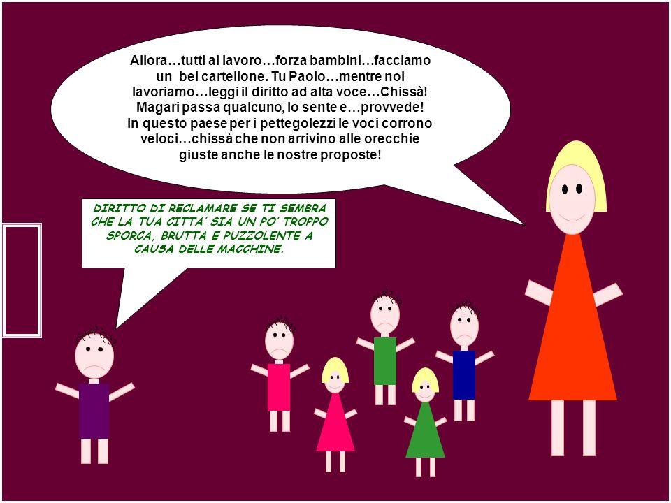 Allora…tutti al lavoro…forza bambini…facciamo un bel cartellone