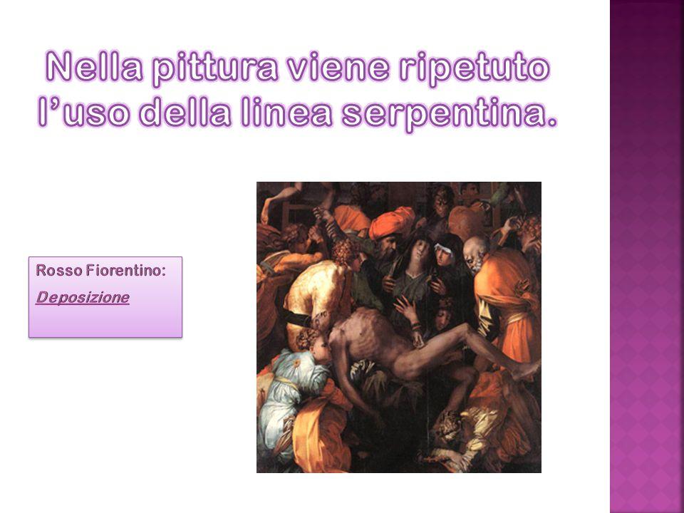 Nella pittura viene ripetuto l'uso della linea serpentina.