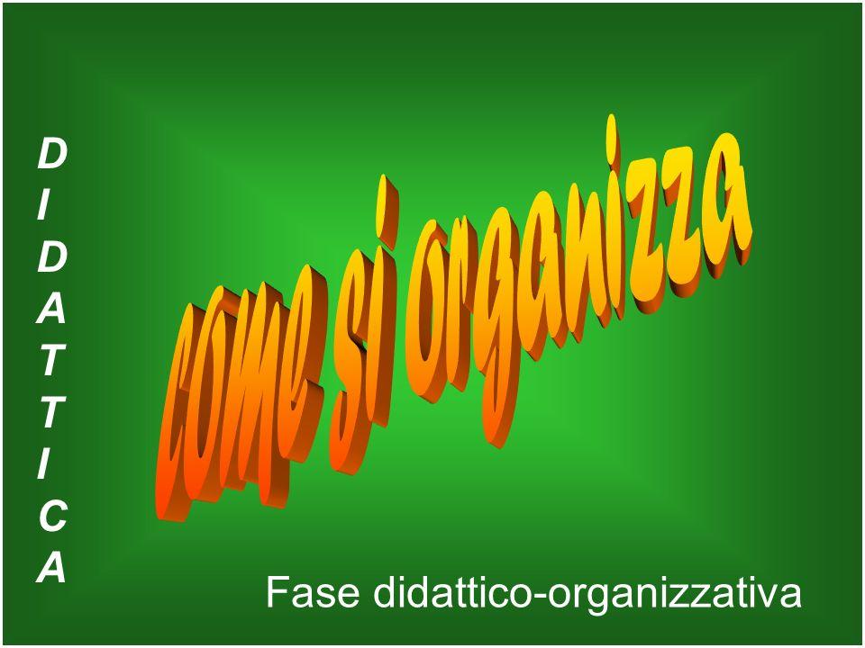 Fase didattico-organizzativa