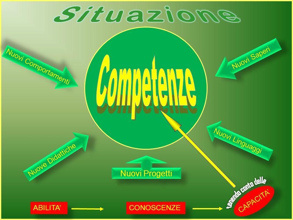 Situazione Competenze Nuovi Progetti culture Nuovi Saperi