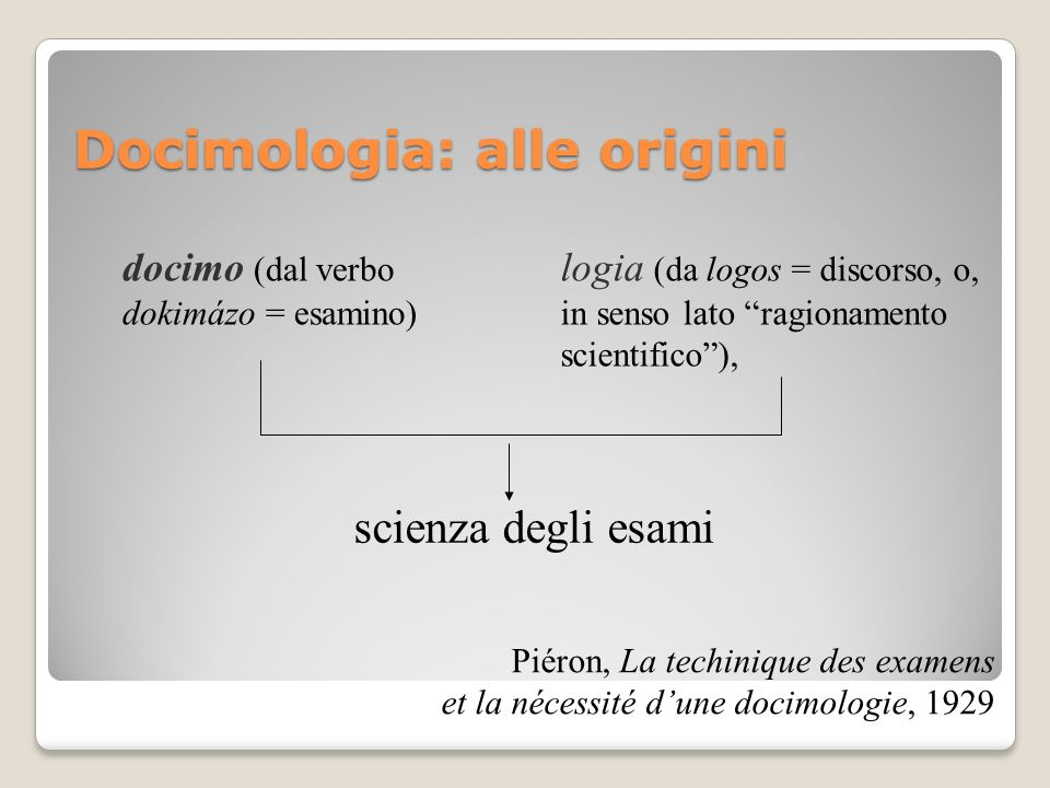 Docimologia: alle origini