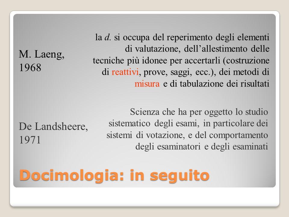 Docimologia: in seguito