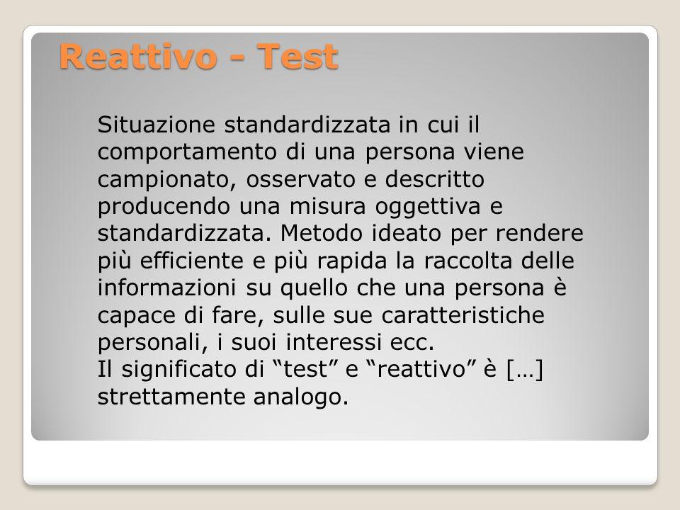 Reattivo - Test