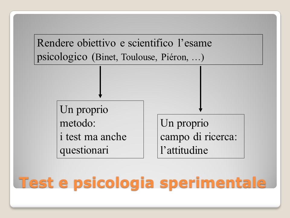 Test e psicologia sperimentale