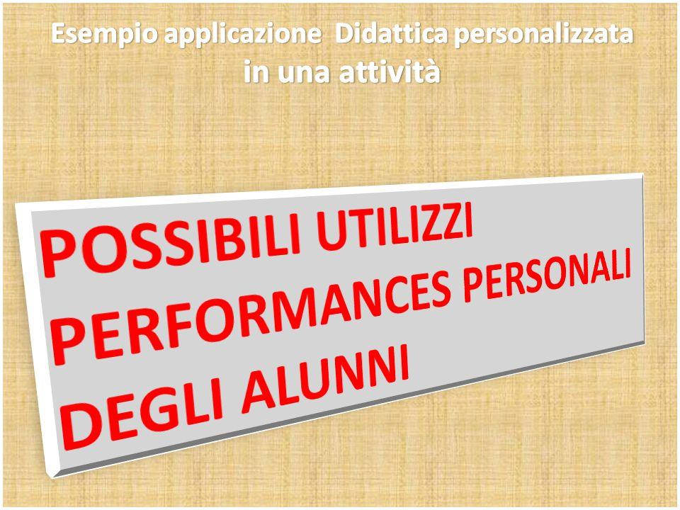 Esempio applicazione Didattica personalizzata