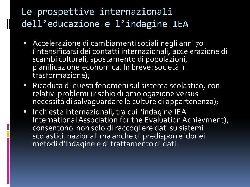 Le prospettive internazionali dell'educazione e l'indagine IEA
