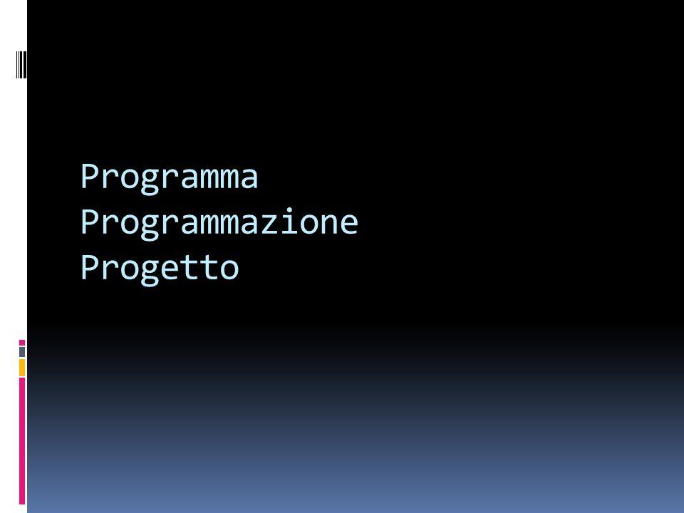 Programma Programmazione Progetto