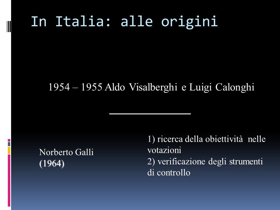 In Italia: alle origini
