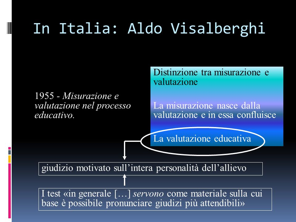 In Italia: Aldo Visalberghi