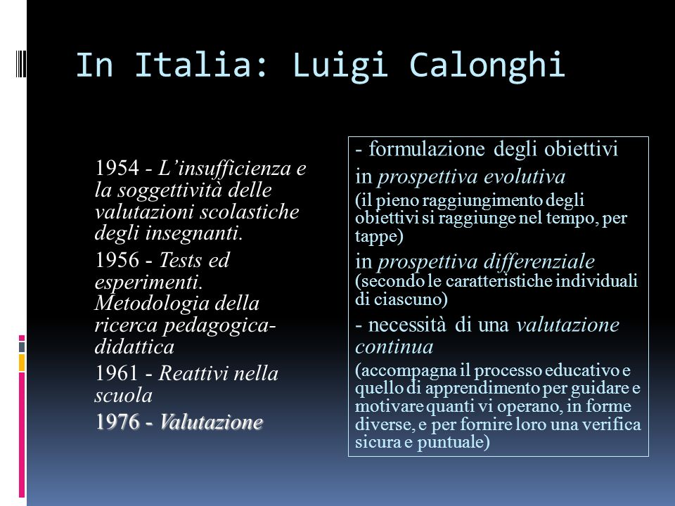 In Italia: Luigi Calonghi
